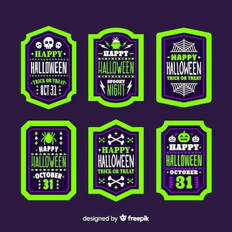 Pack de etiquetas de halloween