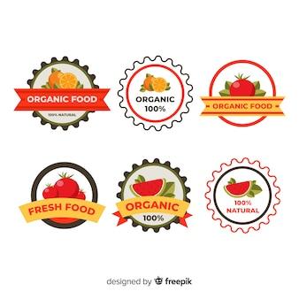 Pack etiquetas planas comida orgánica