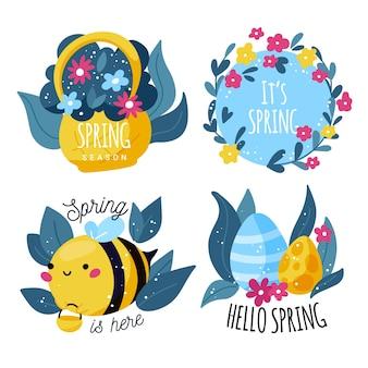 Pack de etiquetas de primavera