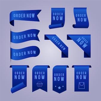 Pack de etiquetas promocionales de pedido ahora