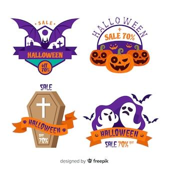 Pack de etiquetas de rebajas de halloween
