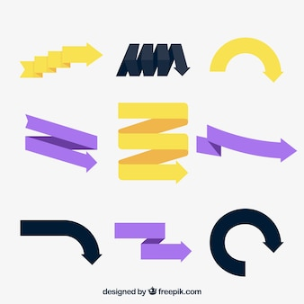 Pack de flechas infográficas