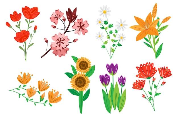 Pack flores dibujadas a mano