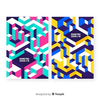 Pack folletos estilo isométrico