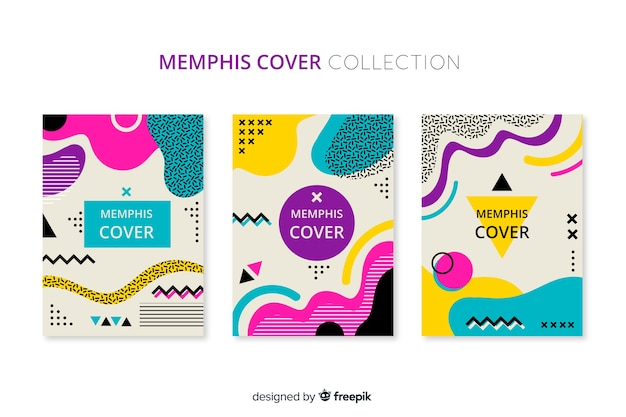 Pack folletos estilo memphis