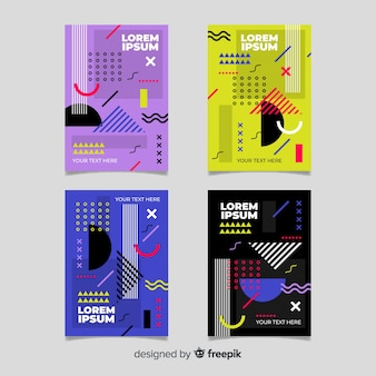 Pack folletos estilo memphis