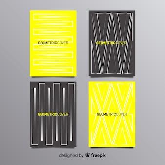 Pack folletos líneas geométricas