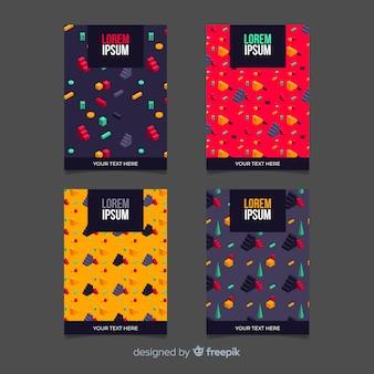 Pack folletos patrón isométrico