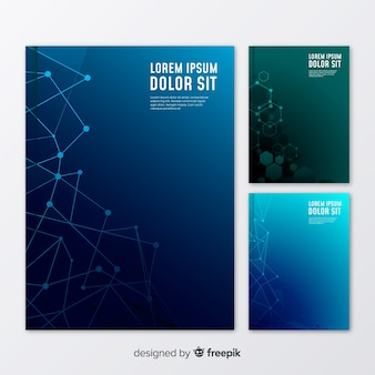 Pack folletos tecnología degradados