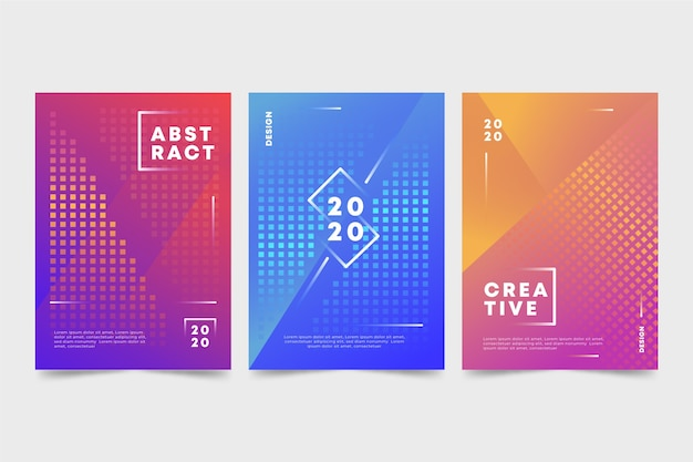 Pack de fundas coloridas abstractas