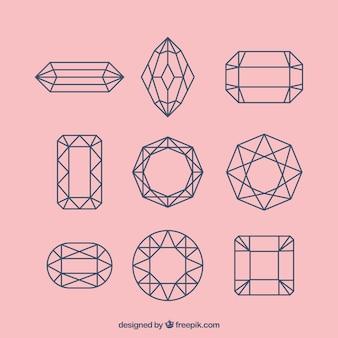 Pack de gemas preciosas lineales