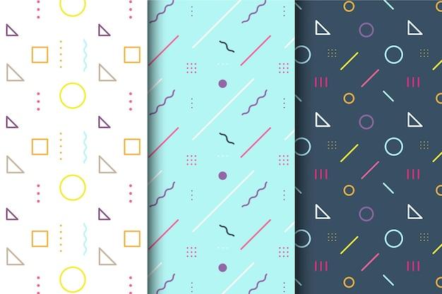 Pack geométrico minimalista de patrones