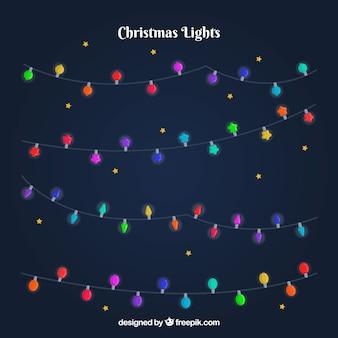 Pack de guirnaldas de luces navideñas