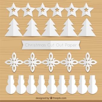 Pack de guirnaldas navideñas de papel