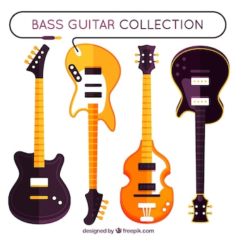 Pack de guitarras eléctricas en diseño plano
