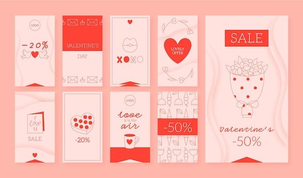 Pack de historias de instagram de san valentín