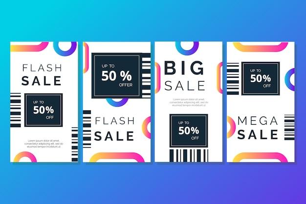 Pack de historias de instagram con ventas