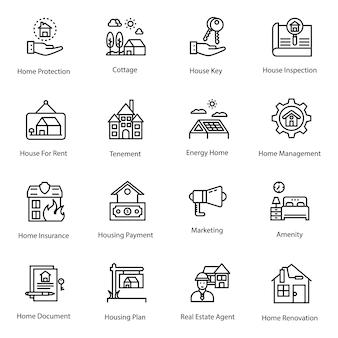 Pack de iconos de bienes raíces
