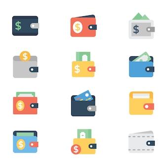 Pack de iconos de billetera