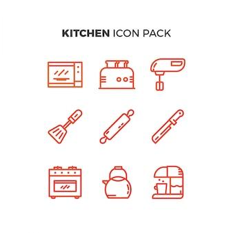 Pack de iconos de cocina