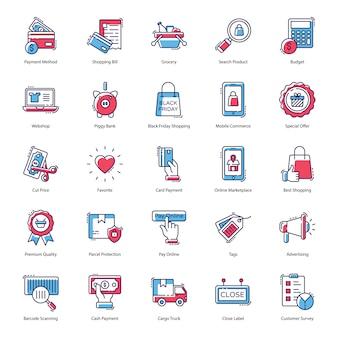 Pack de iconos de comercio electrónico