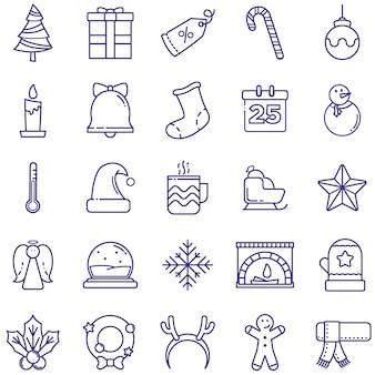 Pack de iconos de feliz navidad