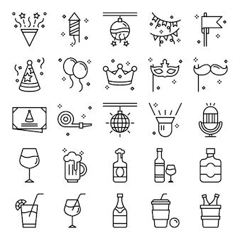 Pack de iconos de fiesta