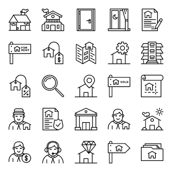 Pack de iconos inmobiliarios