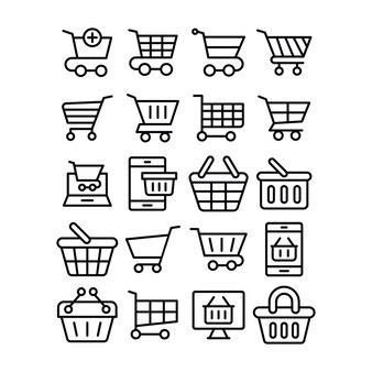Pack de iconos de línea comercial