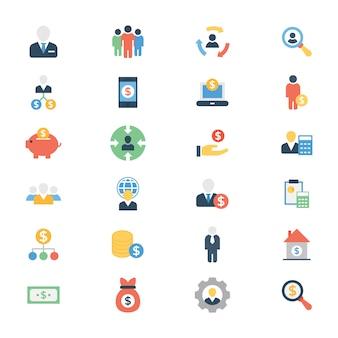 Pack de iconos planos invetor