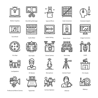 Pack de iconos de producción de video