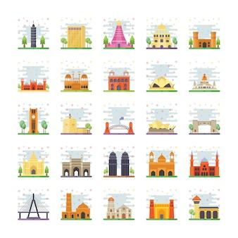 Pack de iconos de puntos de referencia