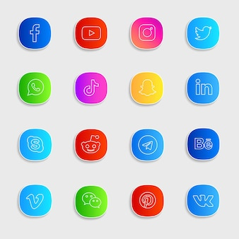 Pack de iconos de redes sociales