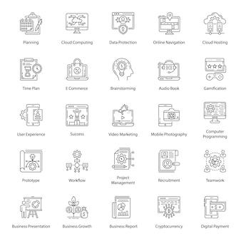 Pack de iconos ui line