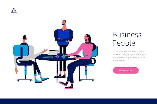 Pack de ilustración de personas de negocios