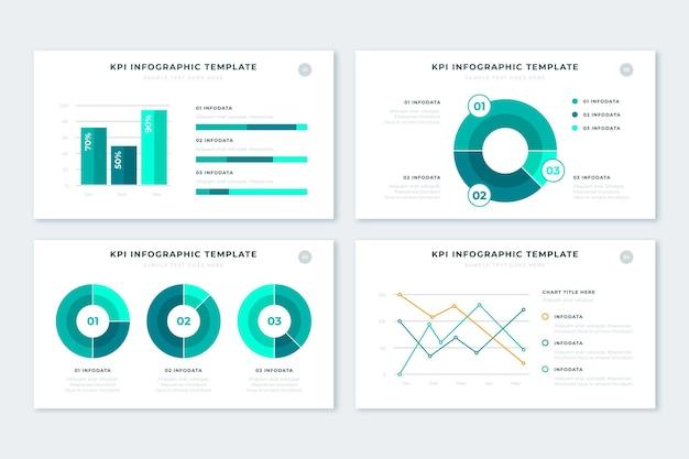 Pack de infografía kpi