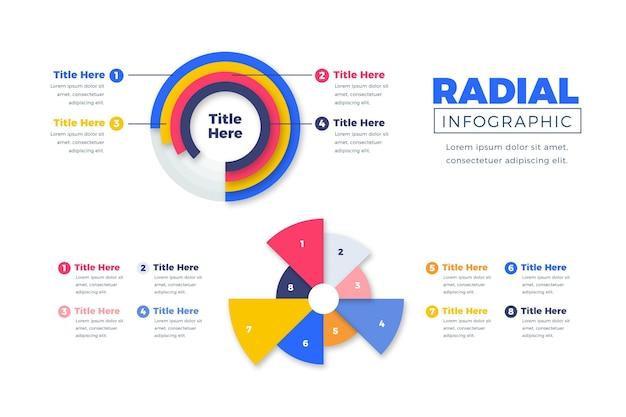Pack de infografía radial