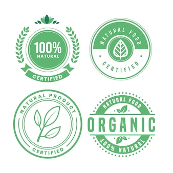 Pack de insignias 100% natural
