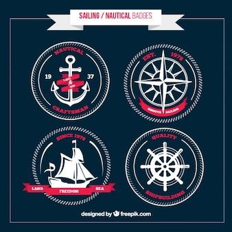 Pack de insignias marineras blancas