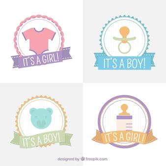 Pack de insignias redondas para la bienvenida del bebé