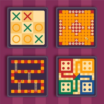 Pack de juego de mesa ilustrado