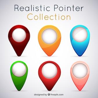 Pack de localizadores en estilo realista