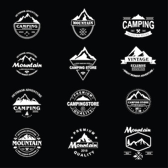 Pack de logo vintage de montaña.