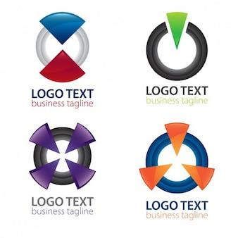 Pack de logos abstractos de botones de encendido