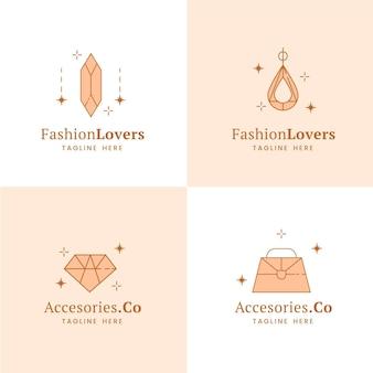 Pack de logos de complementos de moda planos
