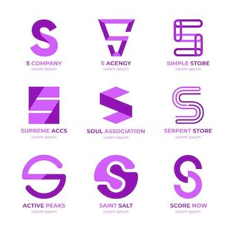 Pack de logos de diseño plano s