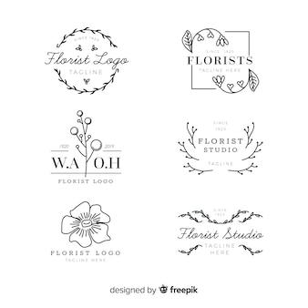 Pack de logos de floristería para bodas.