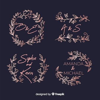 Pack de logos monograma de boda.