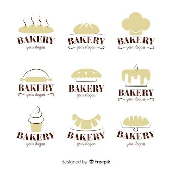 Pack logos panadería siluetas