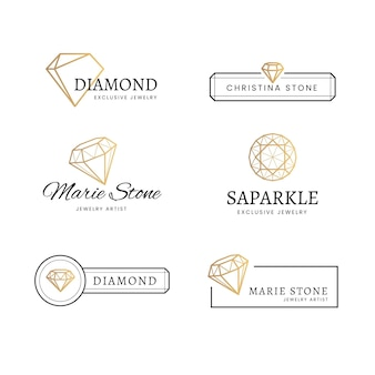 Pack de logotipos de diamantes para empresa